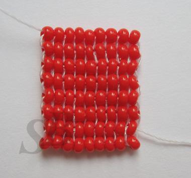 Гобеленовое плетение из бисера.